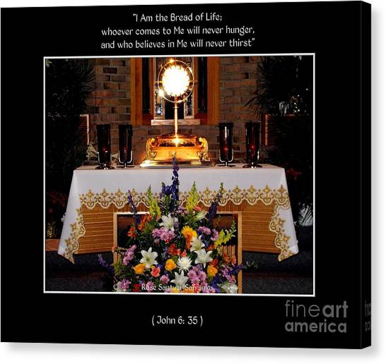 Canvas Print featuring the photograph Eucharist I Am The Bread Of Life by Rose Santuci-Sofranko