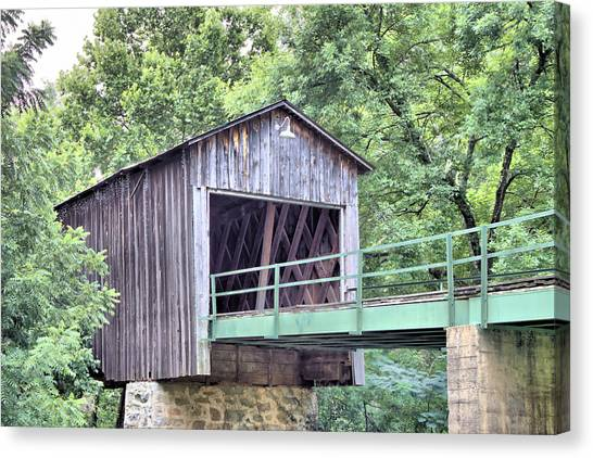 Euharlee Creek Covered Bridge Canvas Print