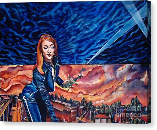 Euphoria Hits The Town-sold Canvas Print by Mirinda Reynolds