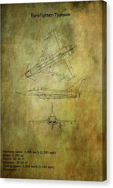 Airplane blueprint canvas prints page 19 of 19 fine art america airplane blueprint canvas print eurofighter typhoon 4 by chris smith malvernweather Images