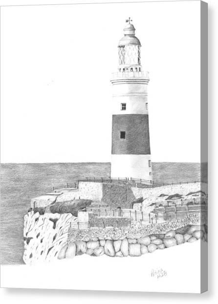 Europa Point Lighthouse Canvas Print