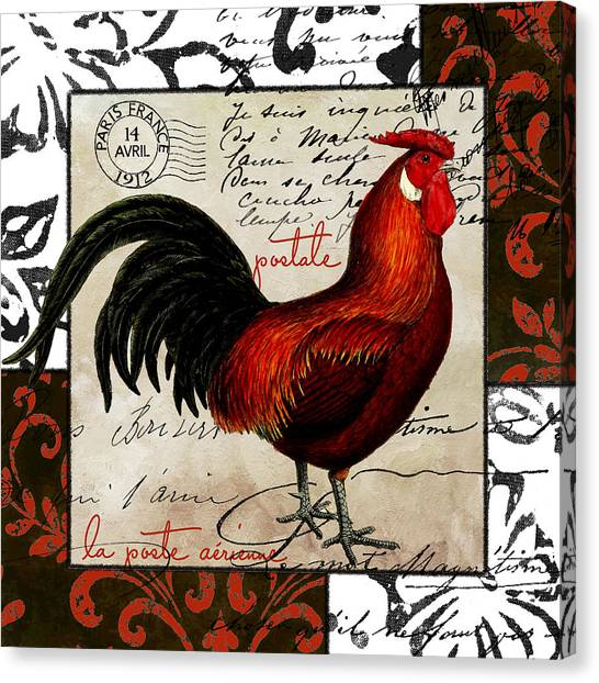 Roosters Canvas Print - Europa Rooster II by Mindy Sommers