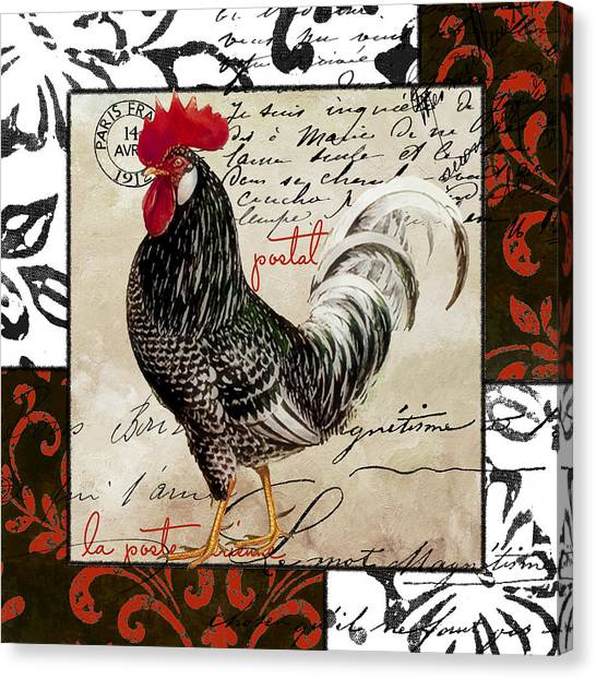 Roosters Canvas Print - Europa Rooster IIi by Mindy Sommers
