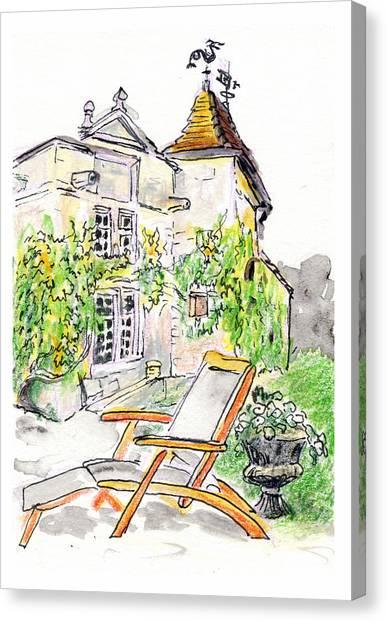 European Chateau Lounge Chair Canvas Print