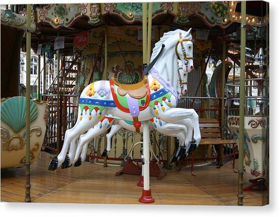 European Merry Go Round Canvas Print by Dennis Curry