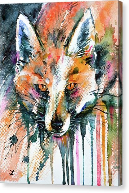European Red Fox Canvas Print