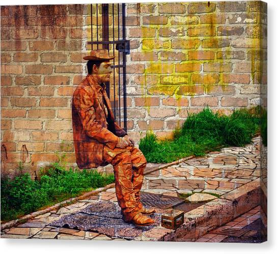 European Street Performer Canvas Print