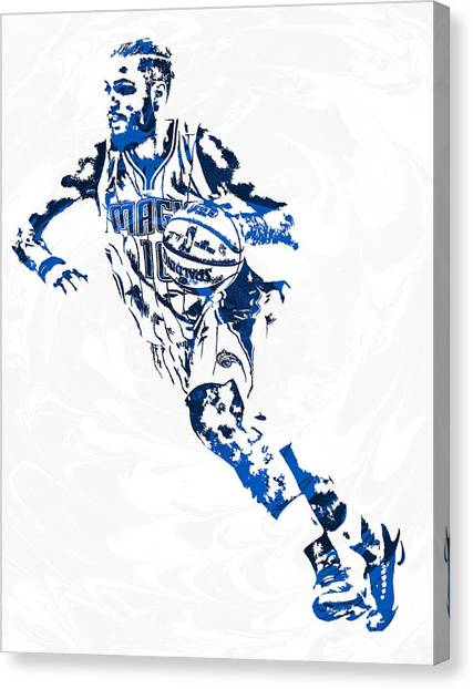 Orlando Magic Canvas Print - Evan Fournier Orlando Magic Pixel Art by Joe Hamilton
