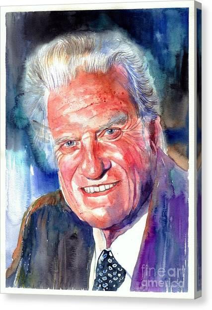 Graham Canvas Print - Evangelist Billy Graham by Suzann's Art