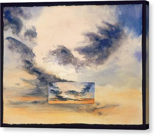 Northwestern University Canvas Print - Evanston Sunset by Nancy  Ethiel