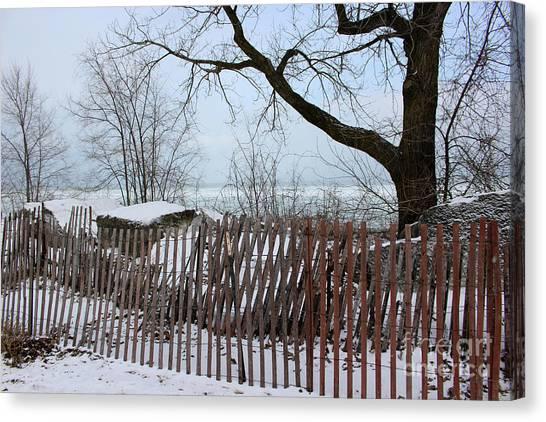 Evanston Winter Canvas Print