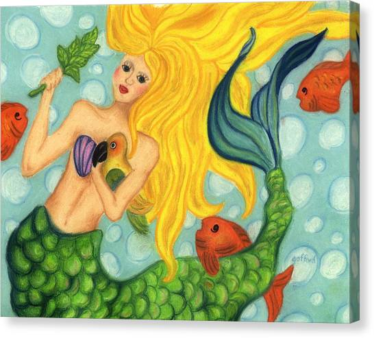Eve The Mermaid Canvas Print