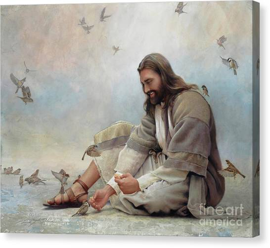 Sparrows Canvas Print - Even A Sparrow by Greg Olsen