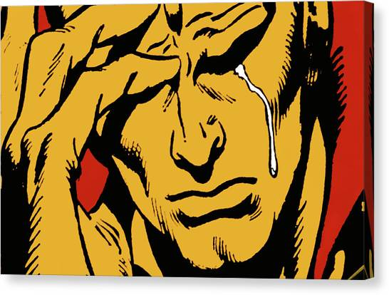 Even An Android Can Cry Canvas Print by Brian Middleton