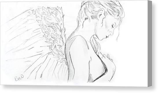 Even Angels Cry Without Quote Canvas Print