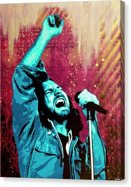 Kurt Cobain Canvas Print - Even Flow by Bobby Zeik