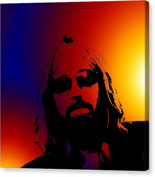 Tom Petty Canvas Print - Even The Losers- by Robert Orinski