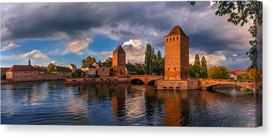 Evening After The Rain On The Ponts Couverts Canvas Print