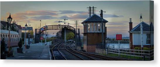 Evening At Bo'ness Station Canvas Print