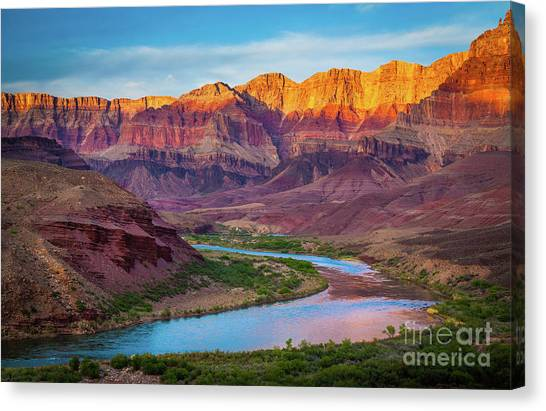 Mountain Sunrises Canvas Print - Evening At Cardenas by Inge Johnsson