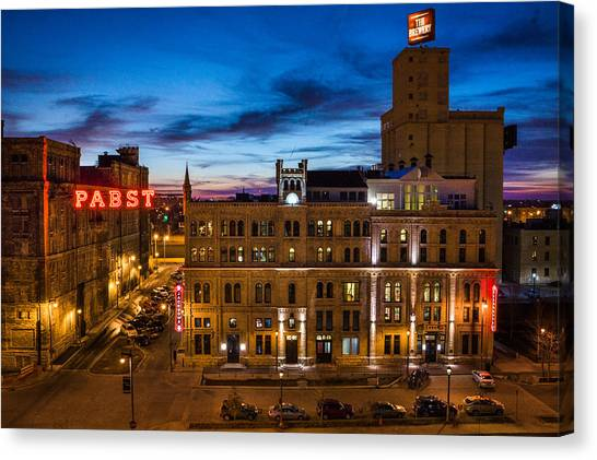 Evening At Pabst Canvas Print