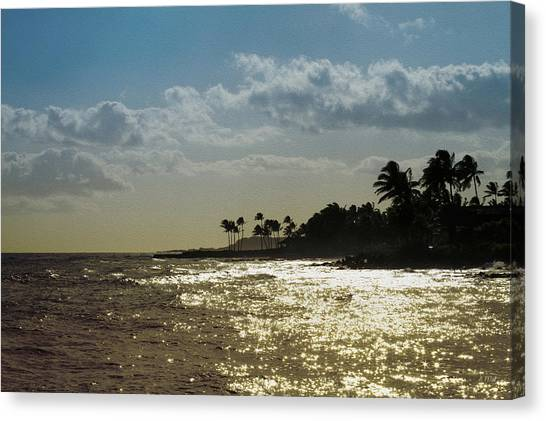 Evening At Poipiu Kauai Canvas Print