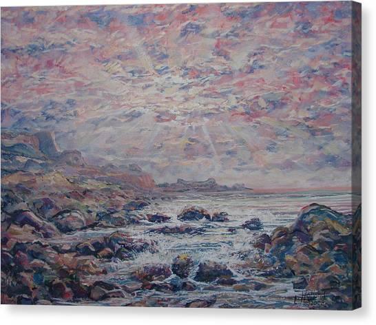 Evening At The Beach Canvas Print