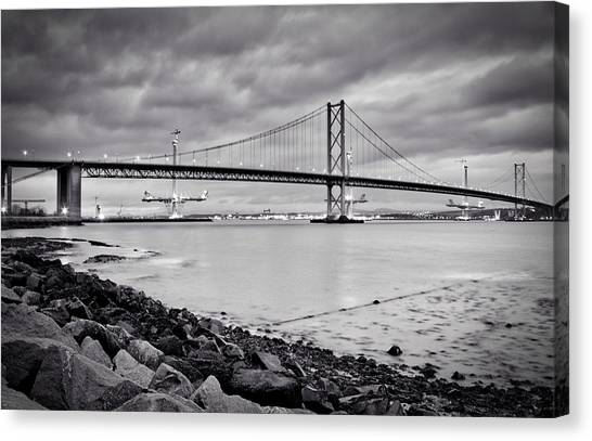 Evening At The Forth Road Bridges Canvas Print