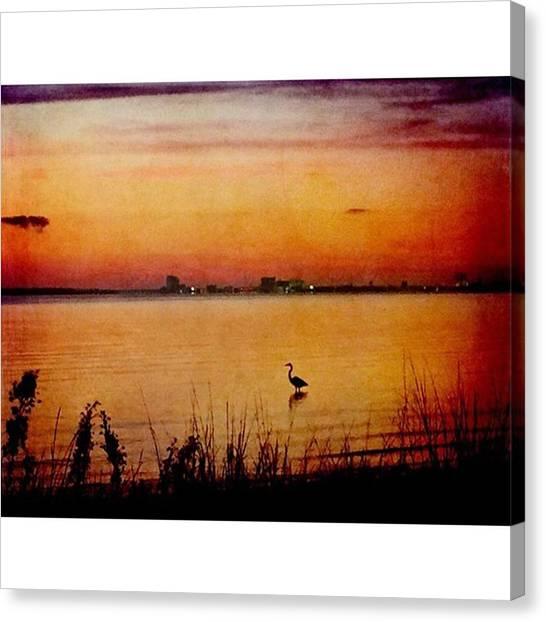 Mississippi Canvas Print - Evening Beauty #oceanspringsmississippi by Joan McCool