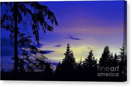 Evening Blue Canvas Print