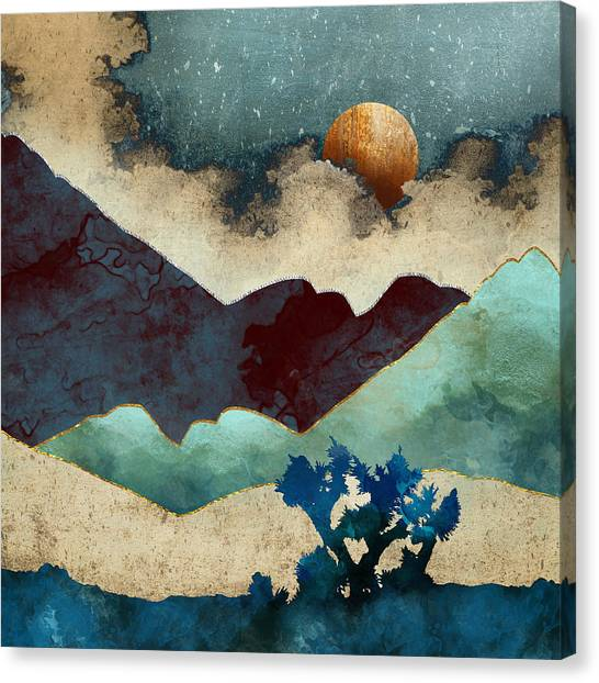 Landscape Canvas Print - Evening Calm by Spacefrog Designs
