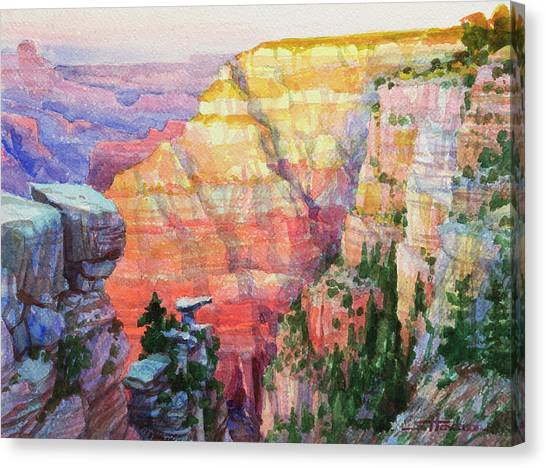 Geology Canvas Print - Evening Colors  by Steve Henderson