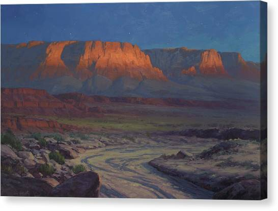 Canyon Canvas Print - Evening Comes To Marble Canyon by Cody DeLong