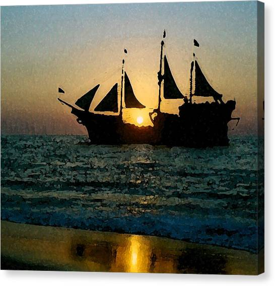 Evening Cruise Canvas Print by Brent Easley