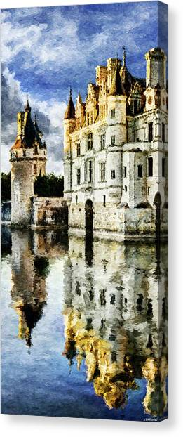Chenonceau Castle Canvas Print - Evening Falls At The Castle by Weston Westmoreland