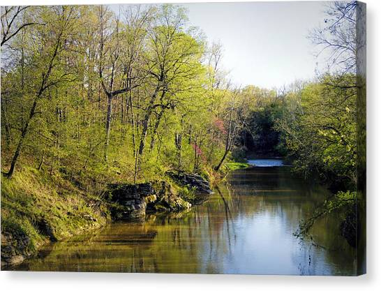 Evening Falls On Cedar Creek Canvas Print