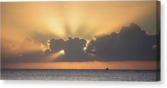 Evening Fishing Canvas Print