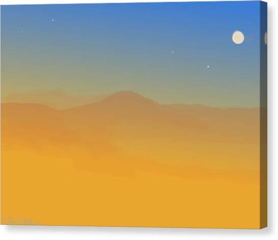 Evening Haze Canvas Print by Margot Paisley