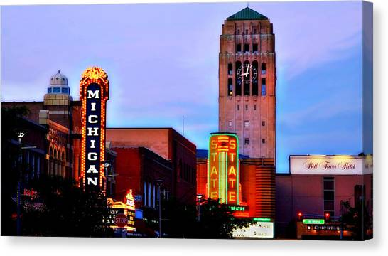 Evening In Ann Arbor Canvas Print