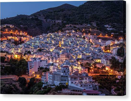 Evening In Competa Canvas Print