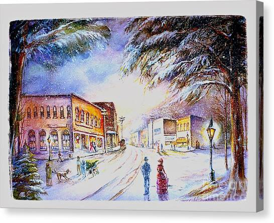 Evening In Dunnville Canvas Print