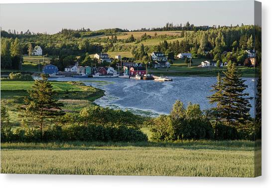 Canvas Print featuring the photograph Evening In French River, Pei. by Rob Huntley