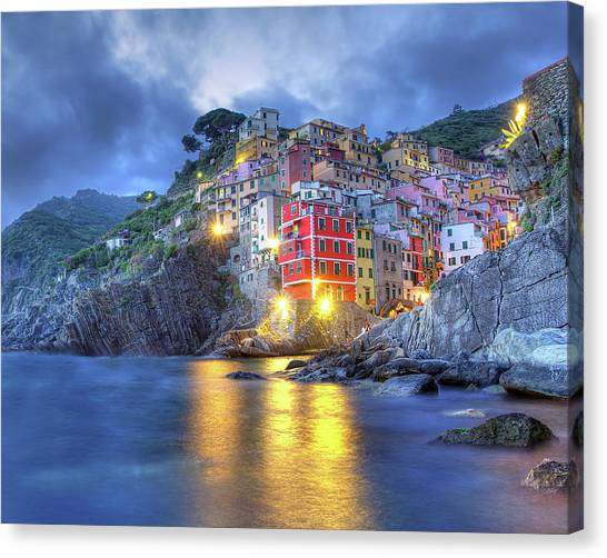 Evening In Riomaggiore Canvas Print