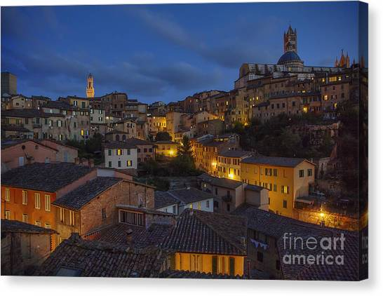 Evening In Siena Canvas Print