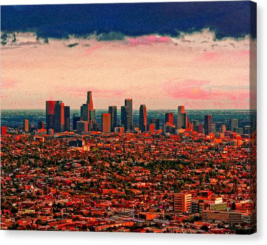 Evening In The City Of The Angels Canvas Print