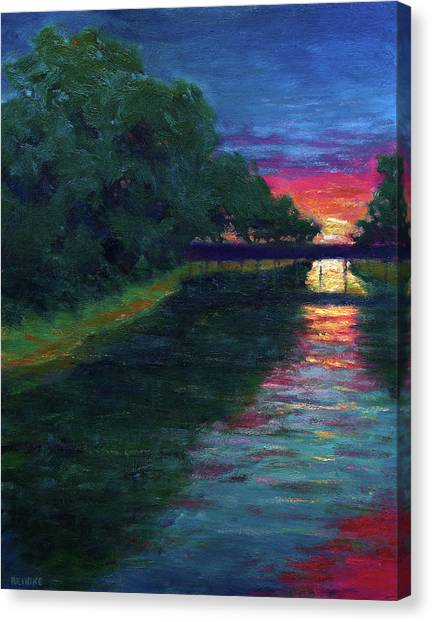 Evening, Lagan Lake Reflections Canvas Print