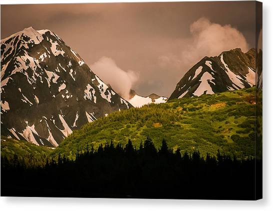 Evening Light Kenai Peninsula Canvas Print