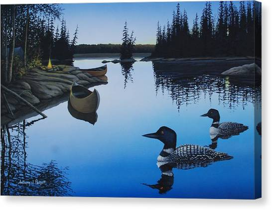 Evening Loons Canvas Print