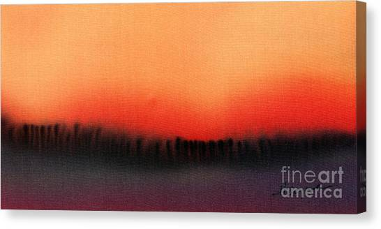 Evening Mist Canvas Print by Addie Hocynec