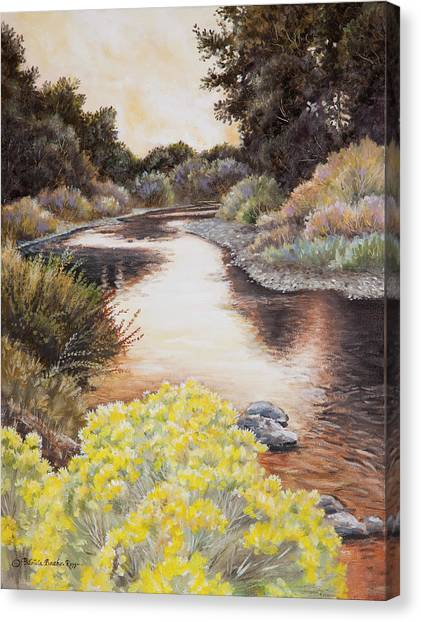 Evening On The John Day River Canvas Print